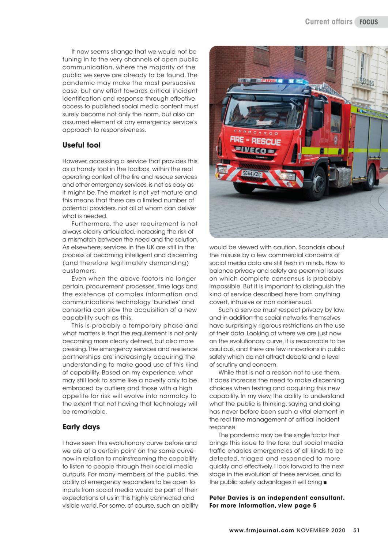Fire and Risk Management Journal Peter Davies