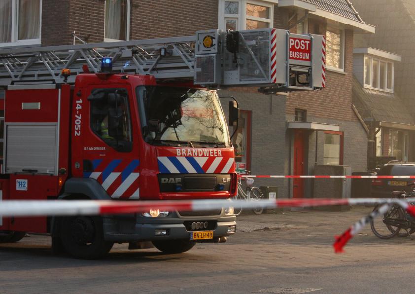 Dutch firetruck in residential area