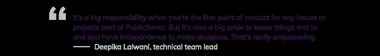 Women in Tech quote 3 - Deepika Lalwani